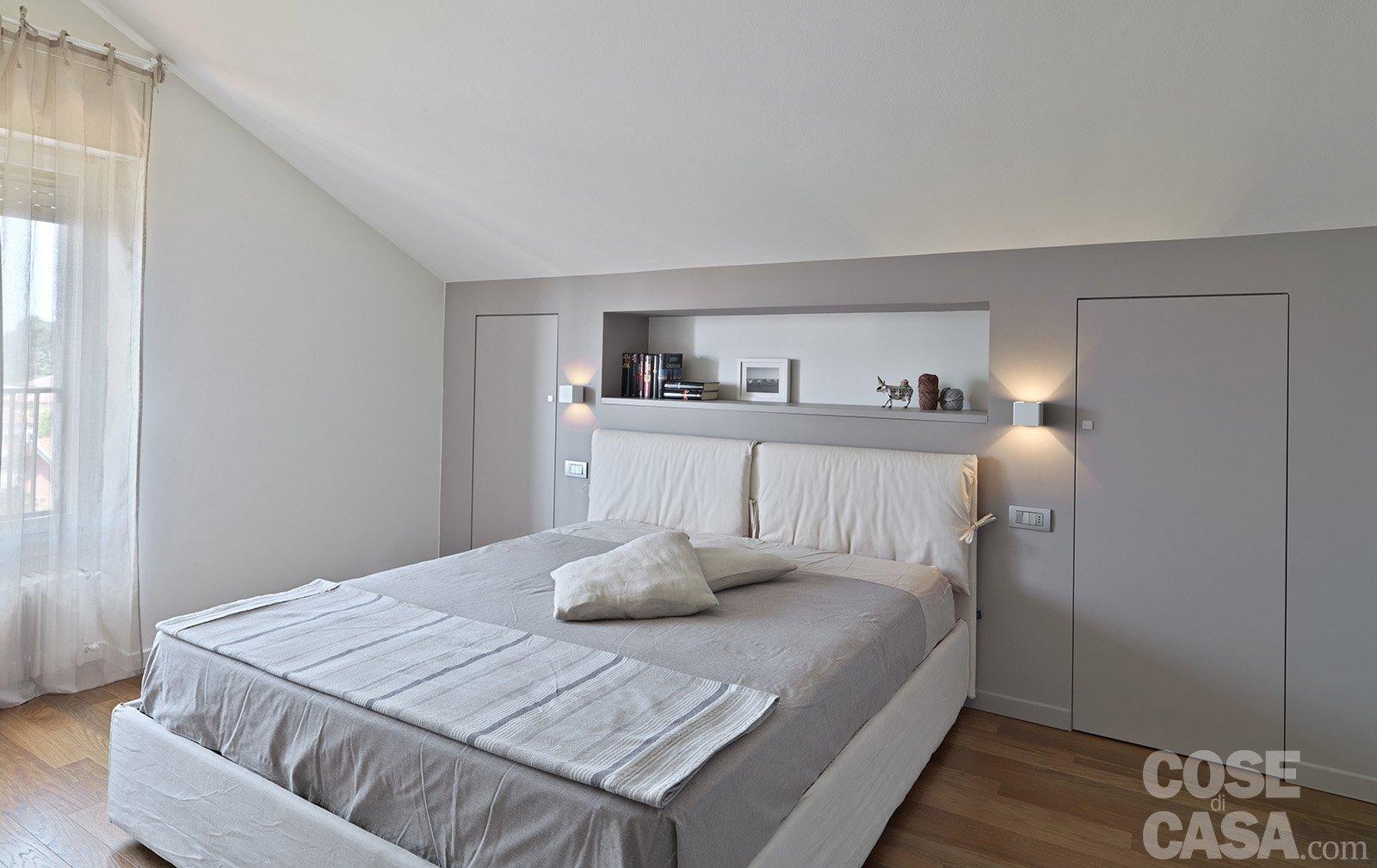 Vivere in mansarda nuovo look per la casa sottotetto for Camera da letto matrimoniale in mansarda