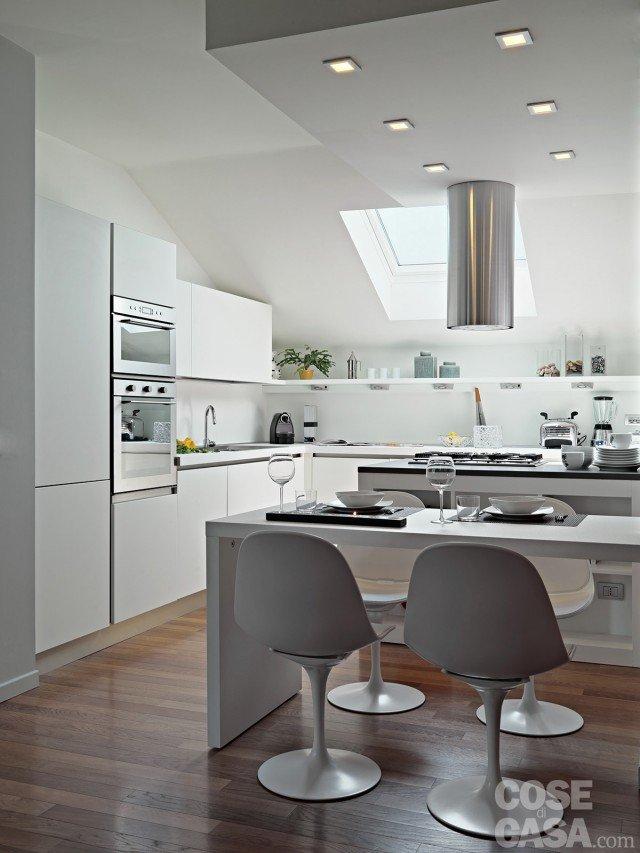 Vivere in mansarda nuovo look per la casa sottotetto - Cucine in mansarda ...