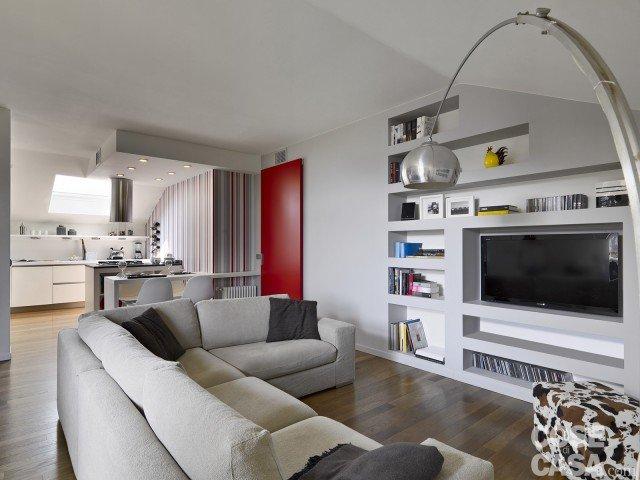 Vivere in mansarda nuovo look per la casa sottotetto - Mobili cartongesso soggiorno ...