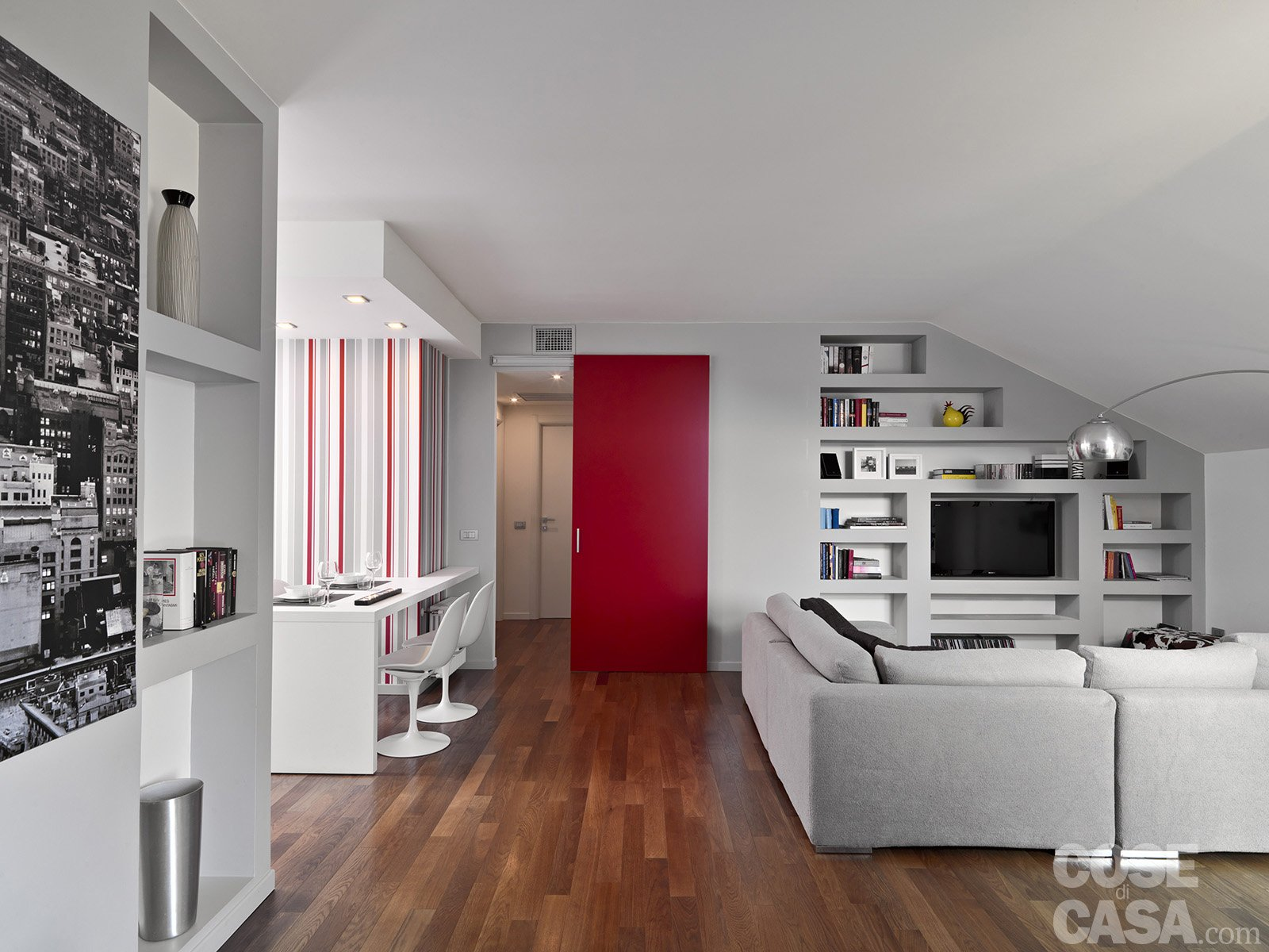 Vivere in mansarda nuovo look per la casa sottotetto for Porte living