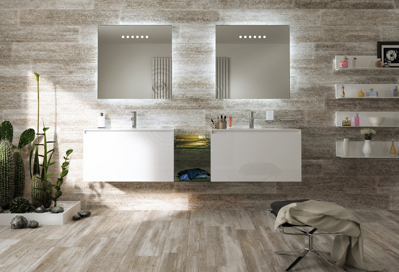 pavimenti per il bagno dal travertino al gres cose di casa. Black Bedroom Furniture Sets. Home Design Ideas