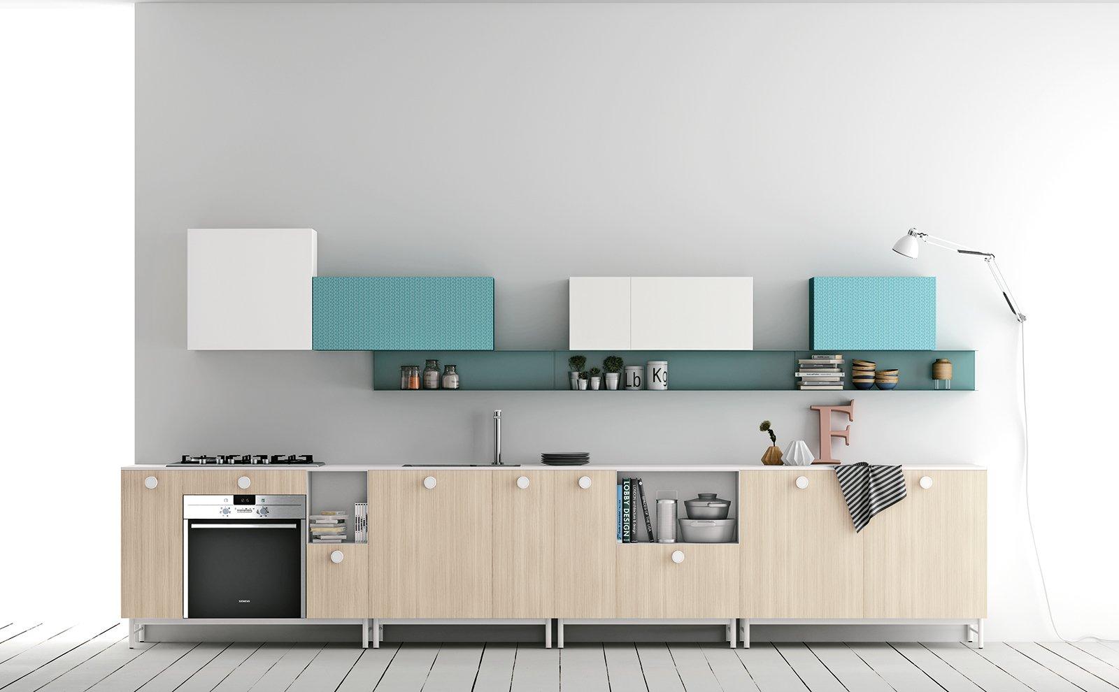 In cucina i vani a giorno fanno tendenza cose di casa - Cucine sospese da terra ...