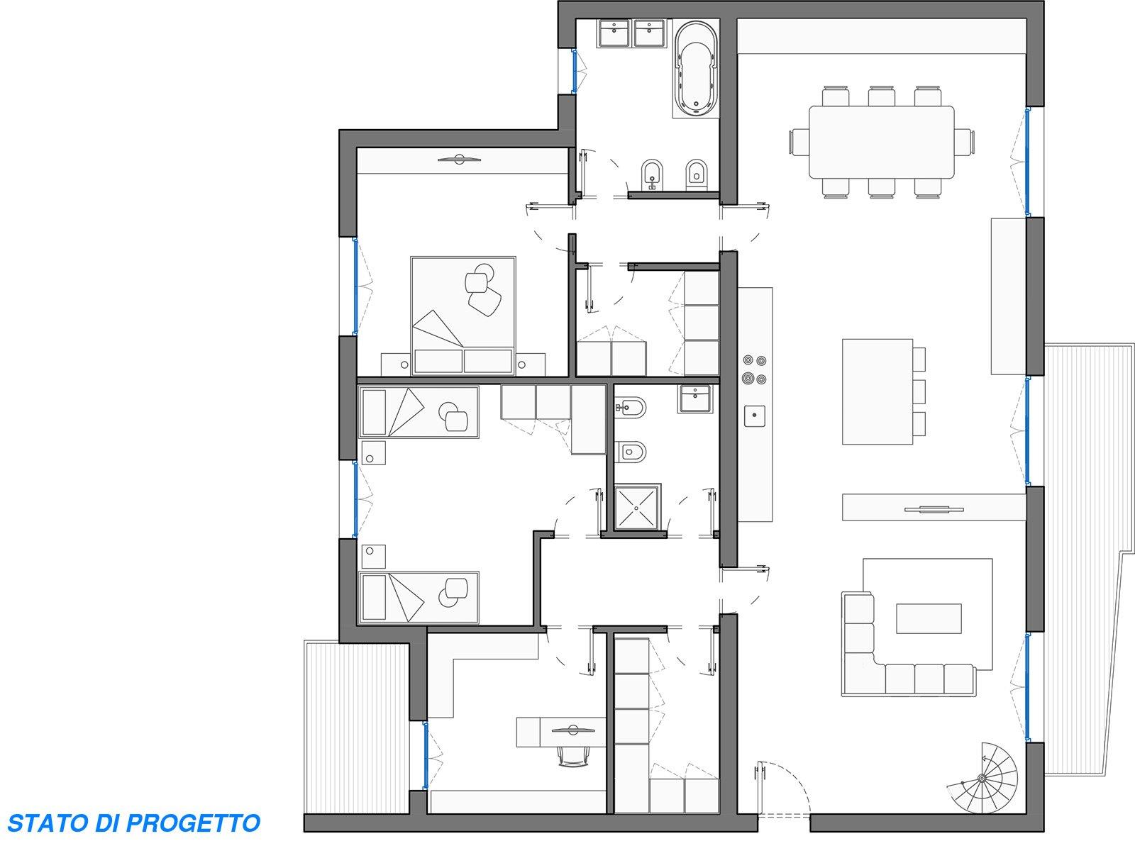 Sfruttare lo spazio pianta e prospetti in 3d per una for Piccole planimetrie di piccole case