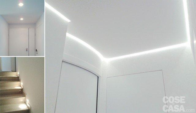 Illuminazione Di Un Corridoio : Una casa con giochi di luce soluzioni d arredamento e finiture