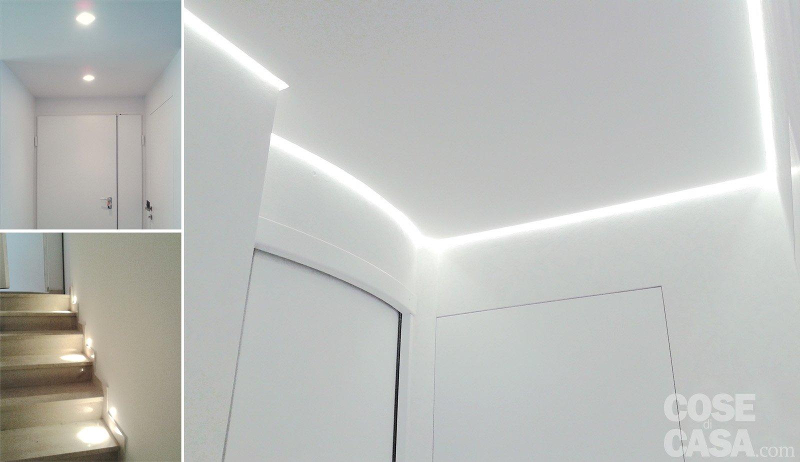 Una casa con giochi di luce: soluzioni darredamento e finiture