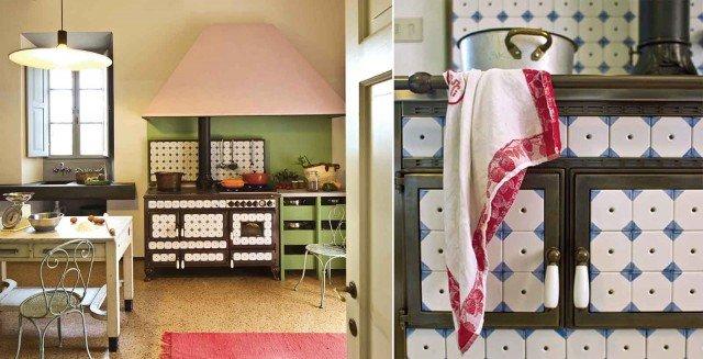 Cucine decorate per un ambiente originale e vivace cose - Piastrelle antiche per cucina ...