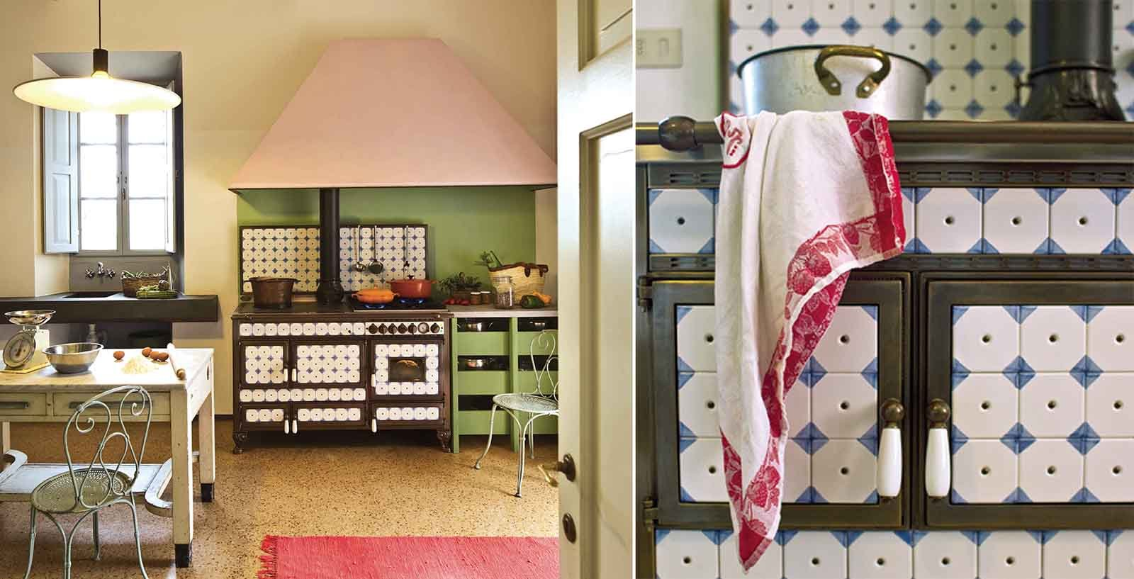Cucine decorate per un ambiente originale e vivace cose for Piastrelle maiolica cucina