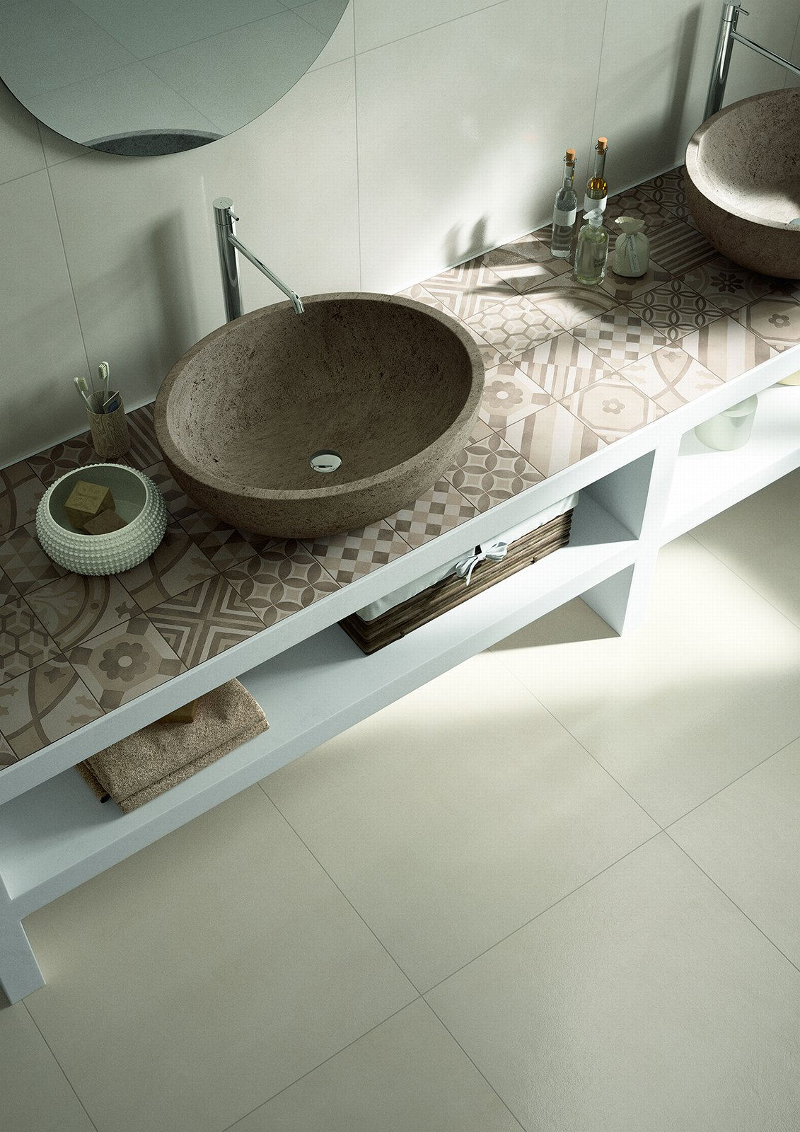 Pavimenti per il bagno dal travertino al gres cose di casa - Posare piastrelle bagno ...