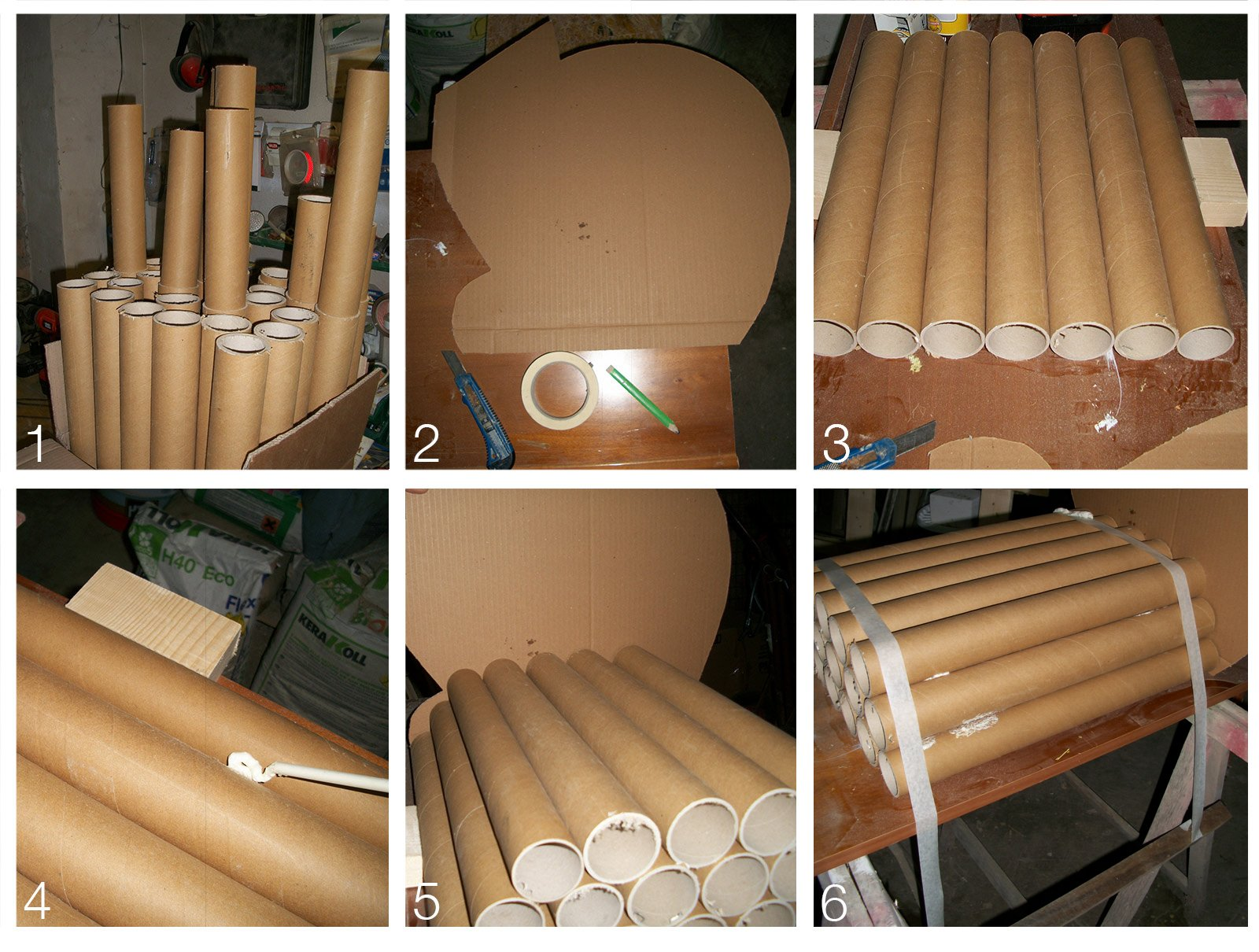 Poltroncina ecologica con tubi di cartone cose di casa for Tubi idraulici arredamento