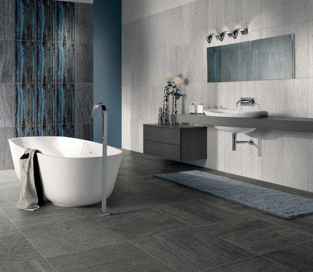 Pavimenti per il bagno dal travertino al gres cose di casa - Piastrelle pietra bagno ...