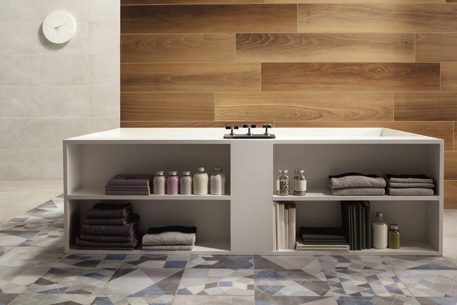 Bagno con finiture cemento o effetto cemento cose di casa - Bagno cemento spatolato ...