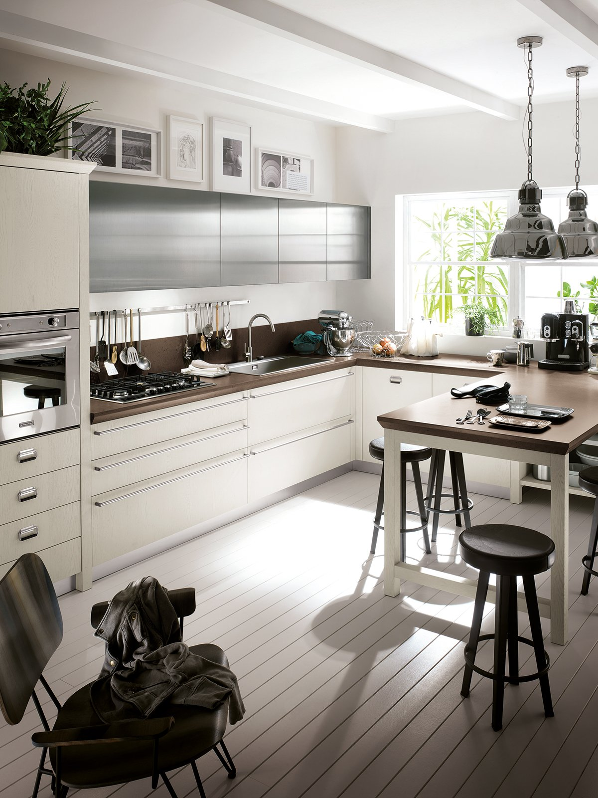 Idee cucina moderna ad angolo con penisola - Cucine con finestra ...