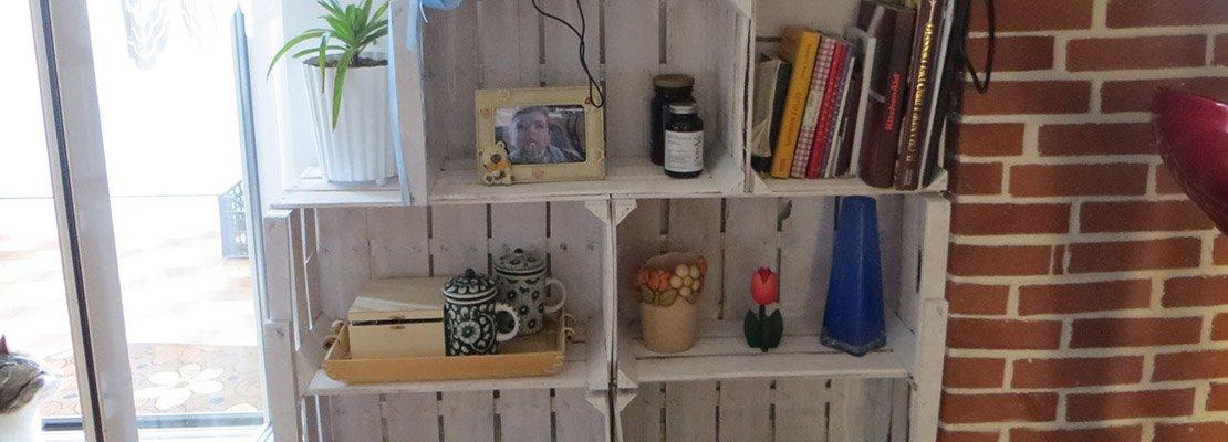 Riciclo creativo da cassette della frutta a mobile for Cose di casa fai da te