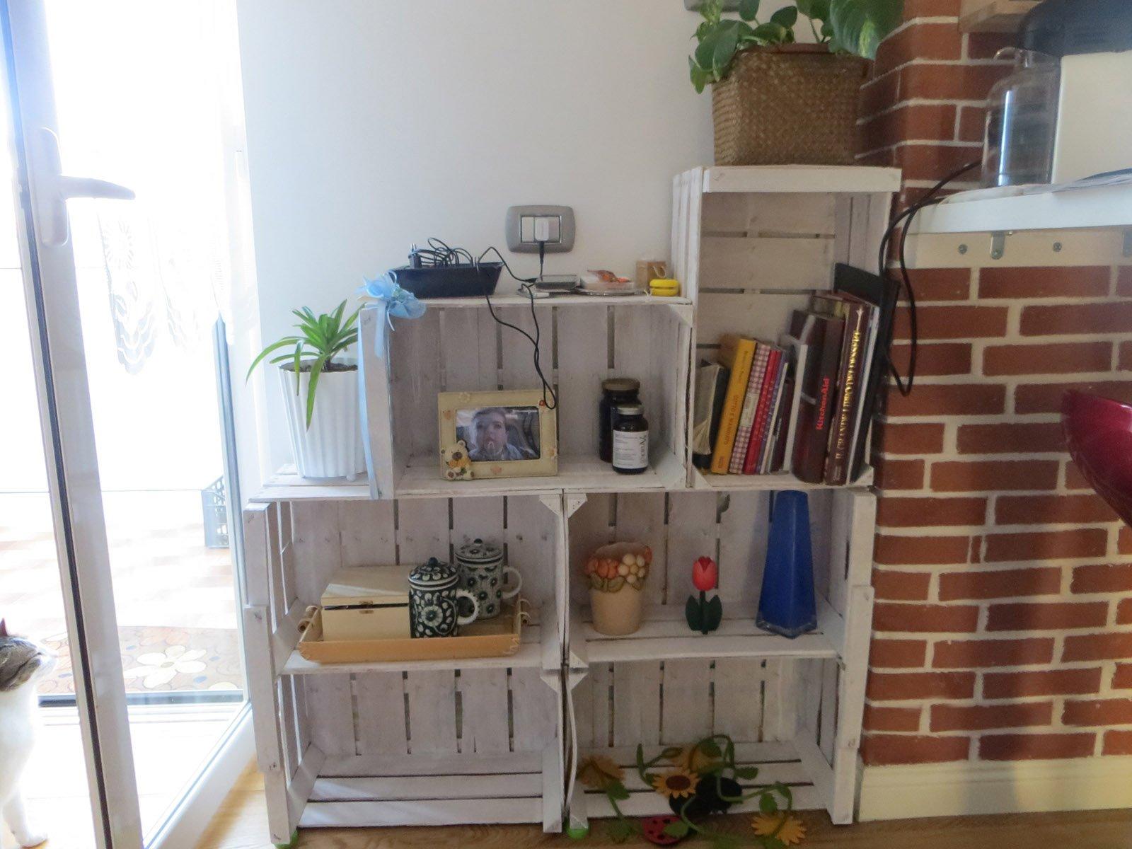 Riciclo creativo da cassette della frutta a mobile - Cucina da esterno fai da te ...