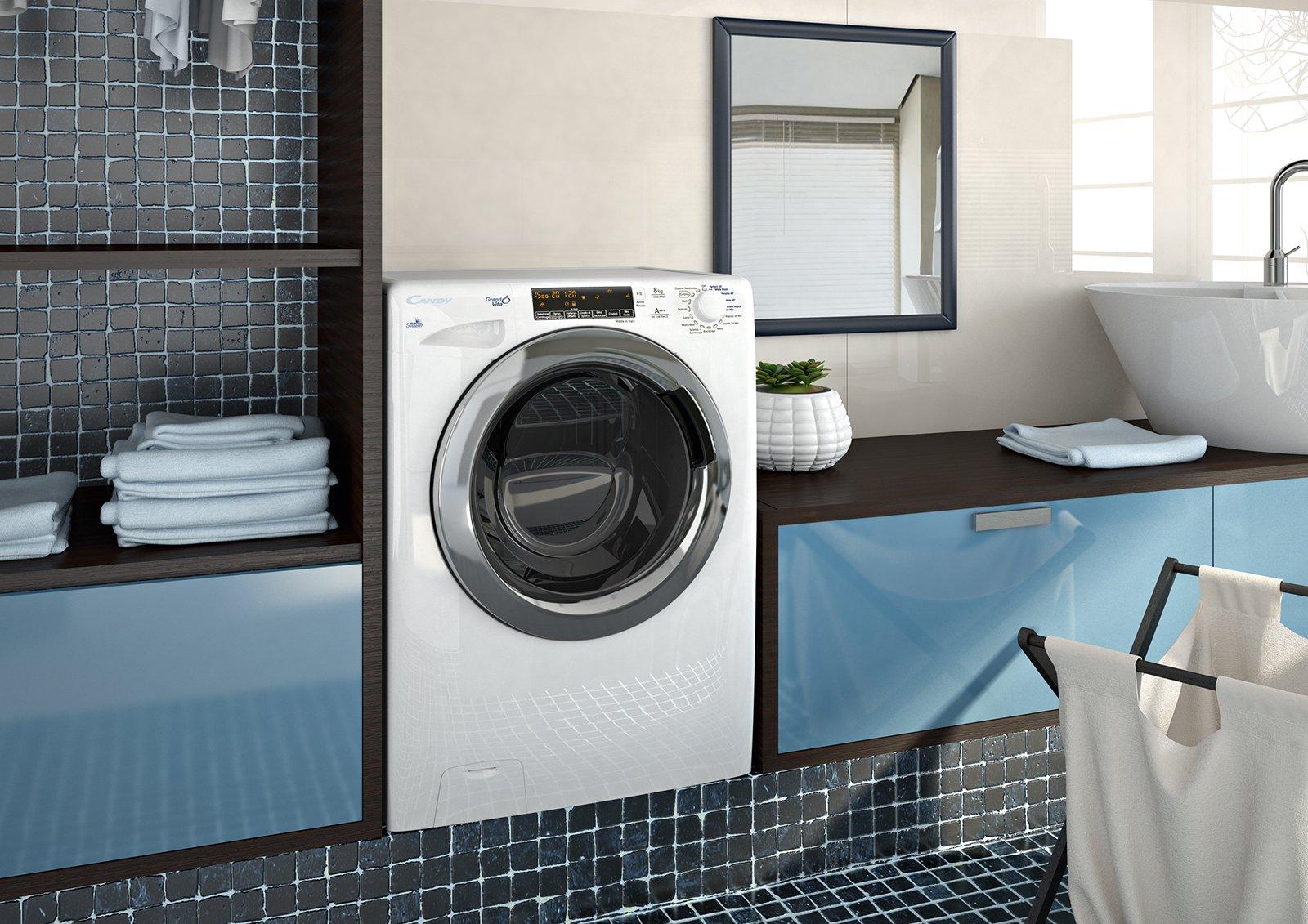 Lavatrici piccole salvaspazio in larghezza profondit o - Profondita lavatrice ...