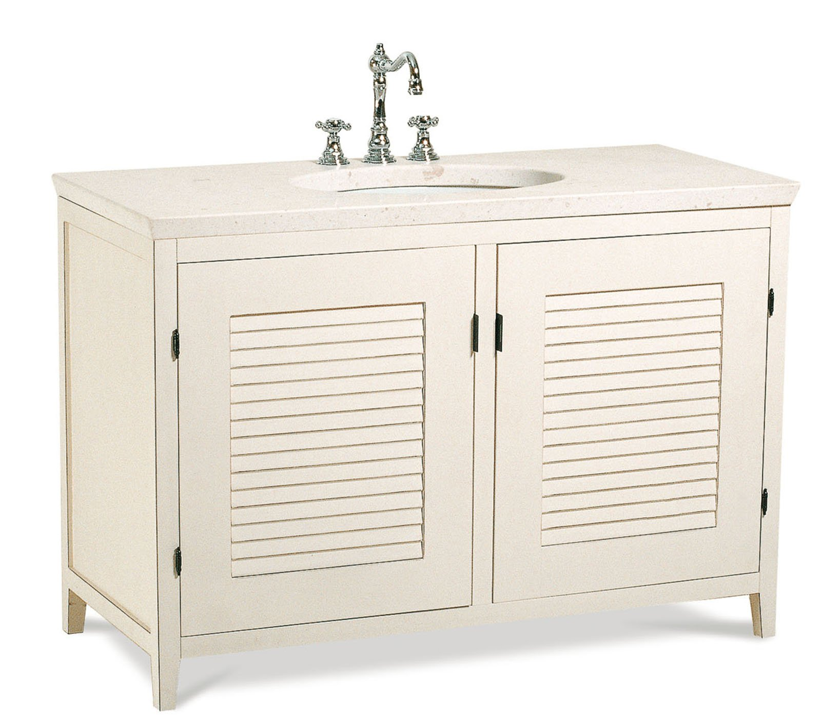 Bagno in stile vintage caldo e r tro cose di casa - Mobili a persiana ...