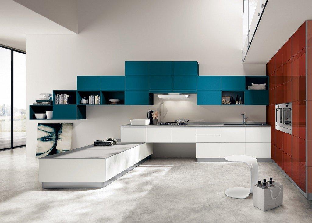 Cucina in bianco pi colore le nuove composizioni moderne cose di casa - Tinteggiare bagno ...