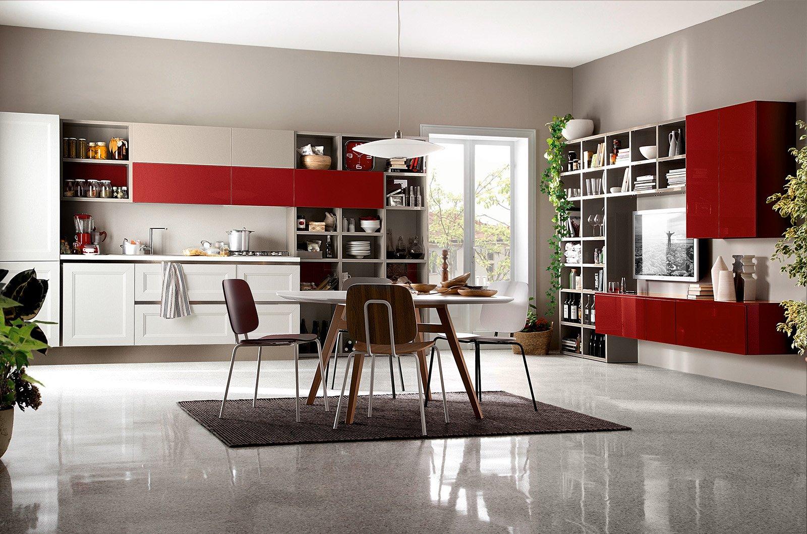 Cucina in bianco più colore: le nuove composizioni moderne - Cose di ...