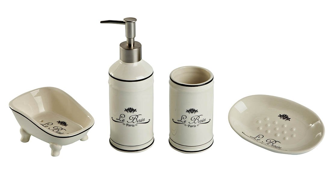 Bagno in stile vintage caldo e r tro cose di casa for Accessori bagno vintage