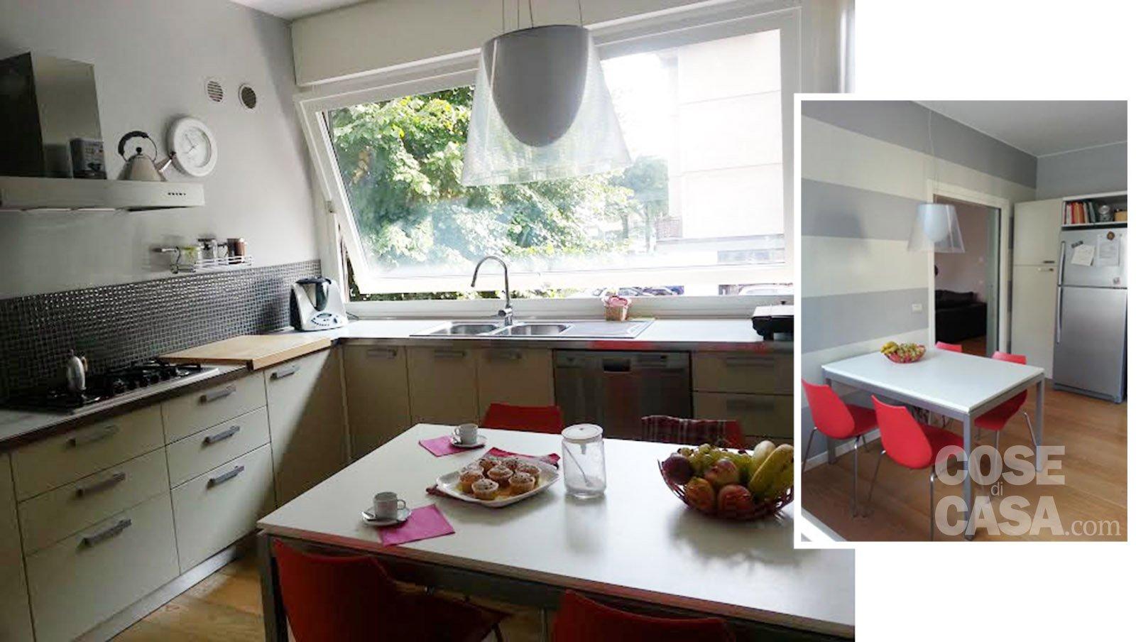 Una casa attualissima rinnovata contenendo i costi cose di casa - Cucina ad angolo con finestra ...