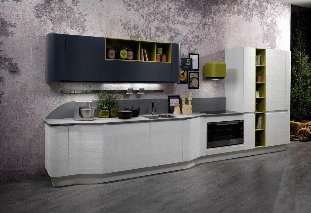 Cucina in bianco più colore: le nuove composizioni moderne   cose ...