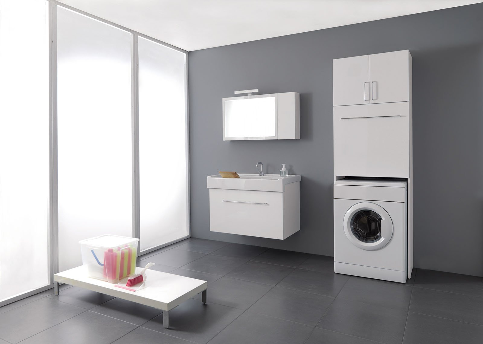 Mobili pensili bagno great coppia cubi design moderno bianco with