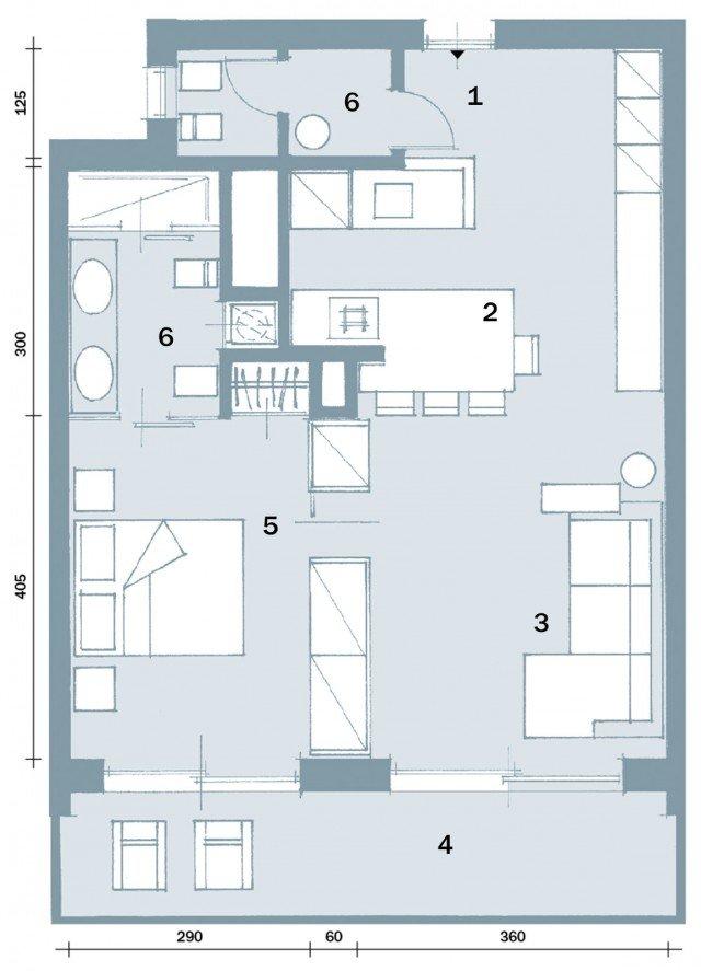 In 57 mq due bagni per la casa dagli incastri perfetti - Cose di Casa