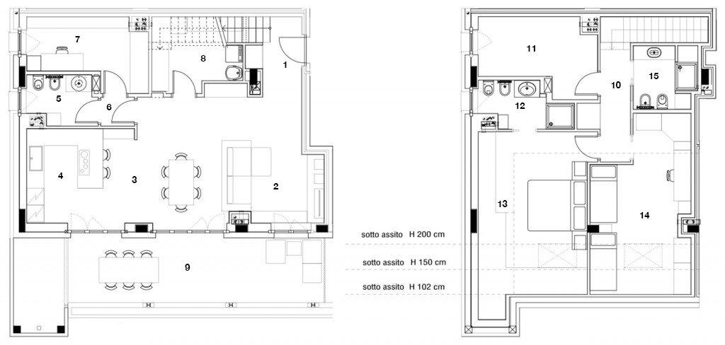 Una casa progettata per le esigenze di cinque persone for Piani a pianta aperta