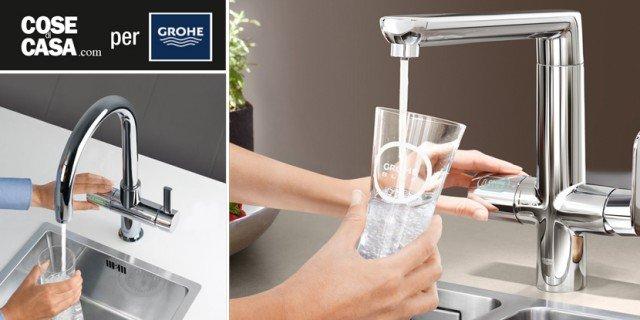 In cucina acqua fresca, liscia o gassata. Direttamente dal rubinetto