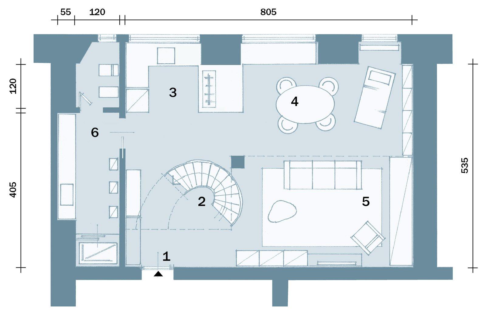 50 17 mq un piccolo loft total white cose di casa for Piani di casa open space