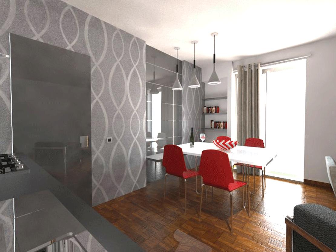 cucina e soggiorno divisi ma senza pareti: mai così facile ...