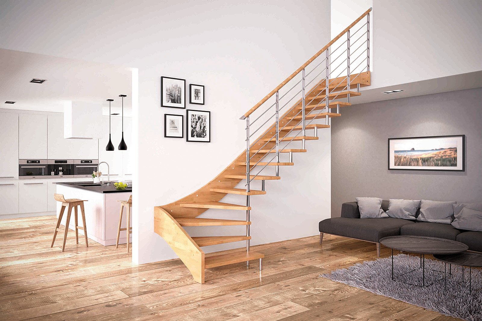 Scegliere la scala per collegare il sottotetto cose di casa - Immagini di scale interne ...