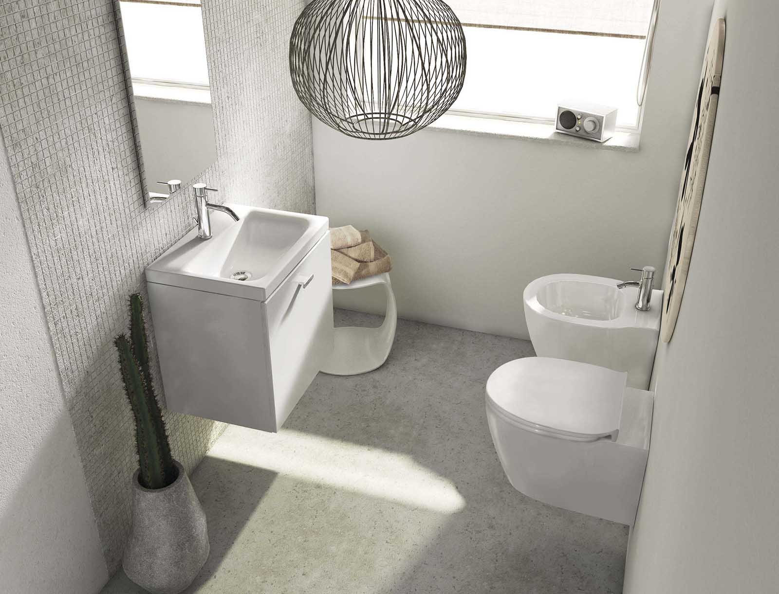 Sanitari salvaspazio poco profondi cose di casa - Dimensione minima bagno ...