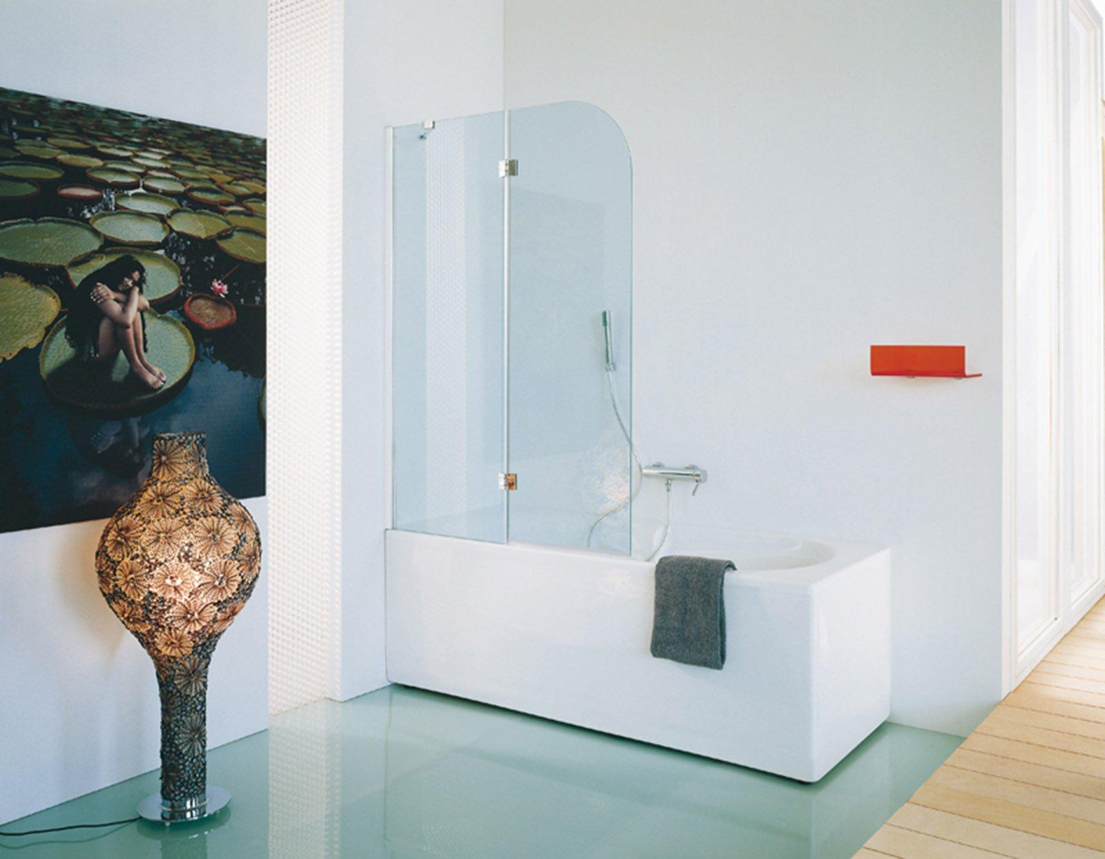 La doccia nella vasca aggiungendo un pannello cose di casa - Listelli decorativi per bagno ...