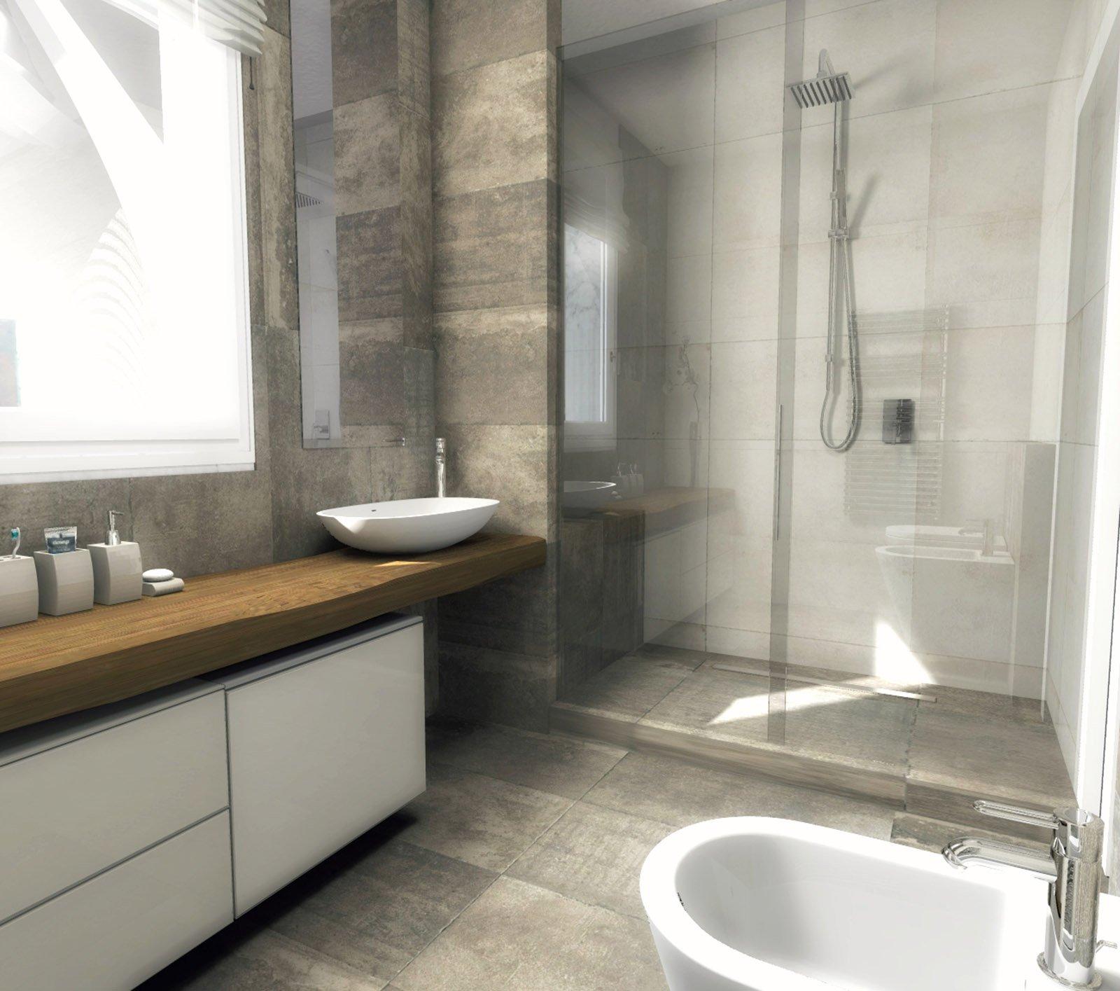 Bagno quale la distribuzione migliore per sanitari e doccia cose di casa - Soluzioni per gradino in bagno ...