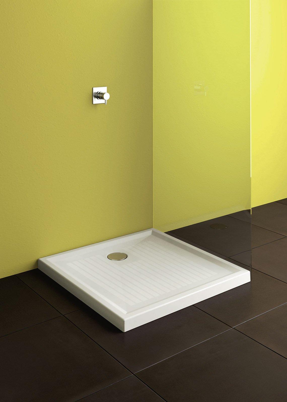 ? di forma quadrata il piatto doccia della collezione Verso di ...