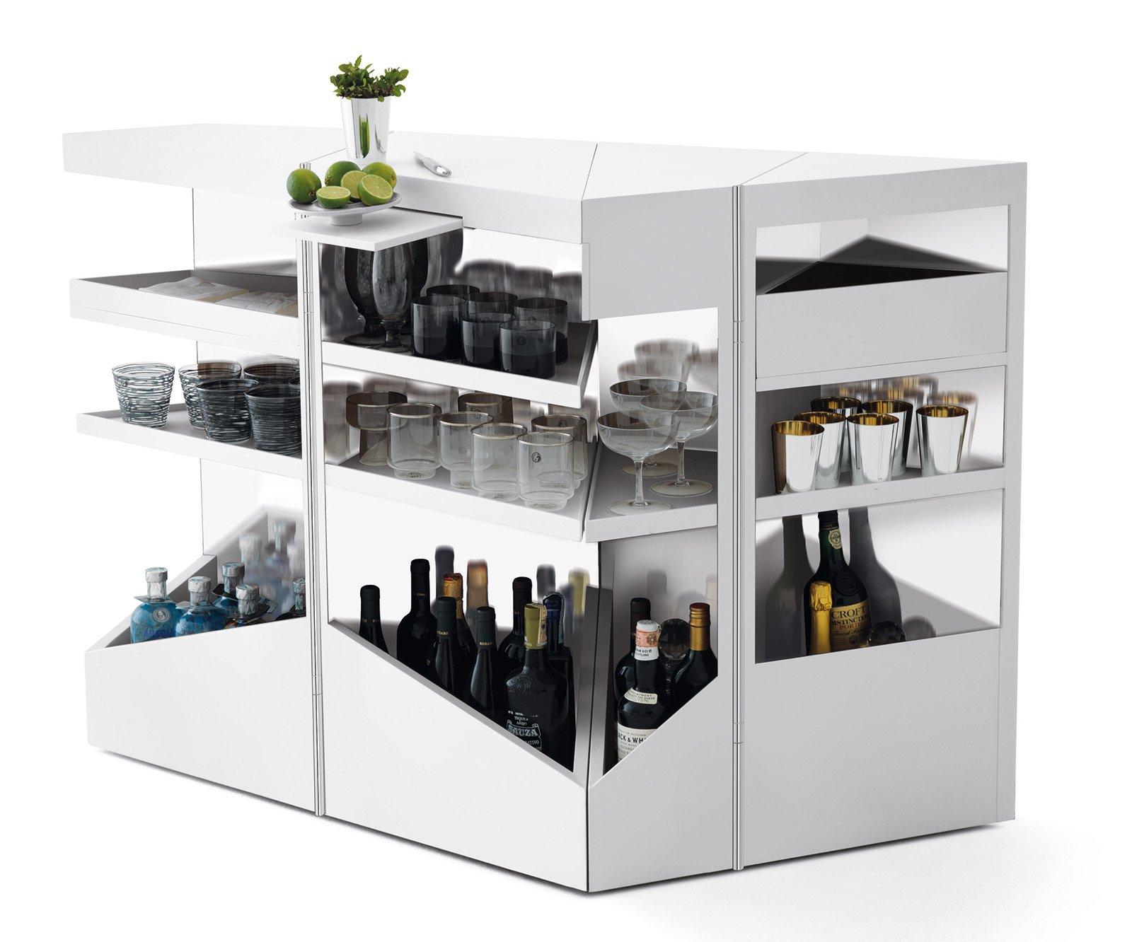 Mobile bar a casa per brindare e fare festa con amici e for Mobile angolo