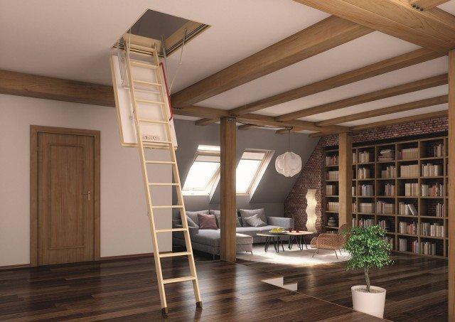 Scegliere la scala per collegare il sottotetto - Cose di Casa
