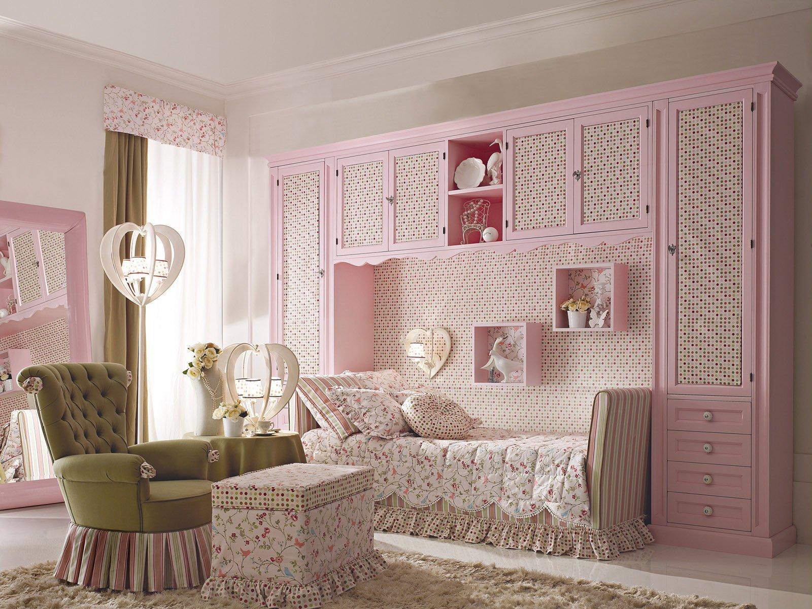 La cameretta romantica di gusto classico cose di casa - Immagini di camerette ...