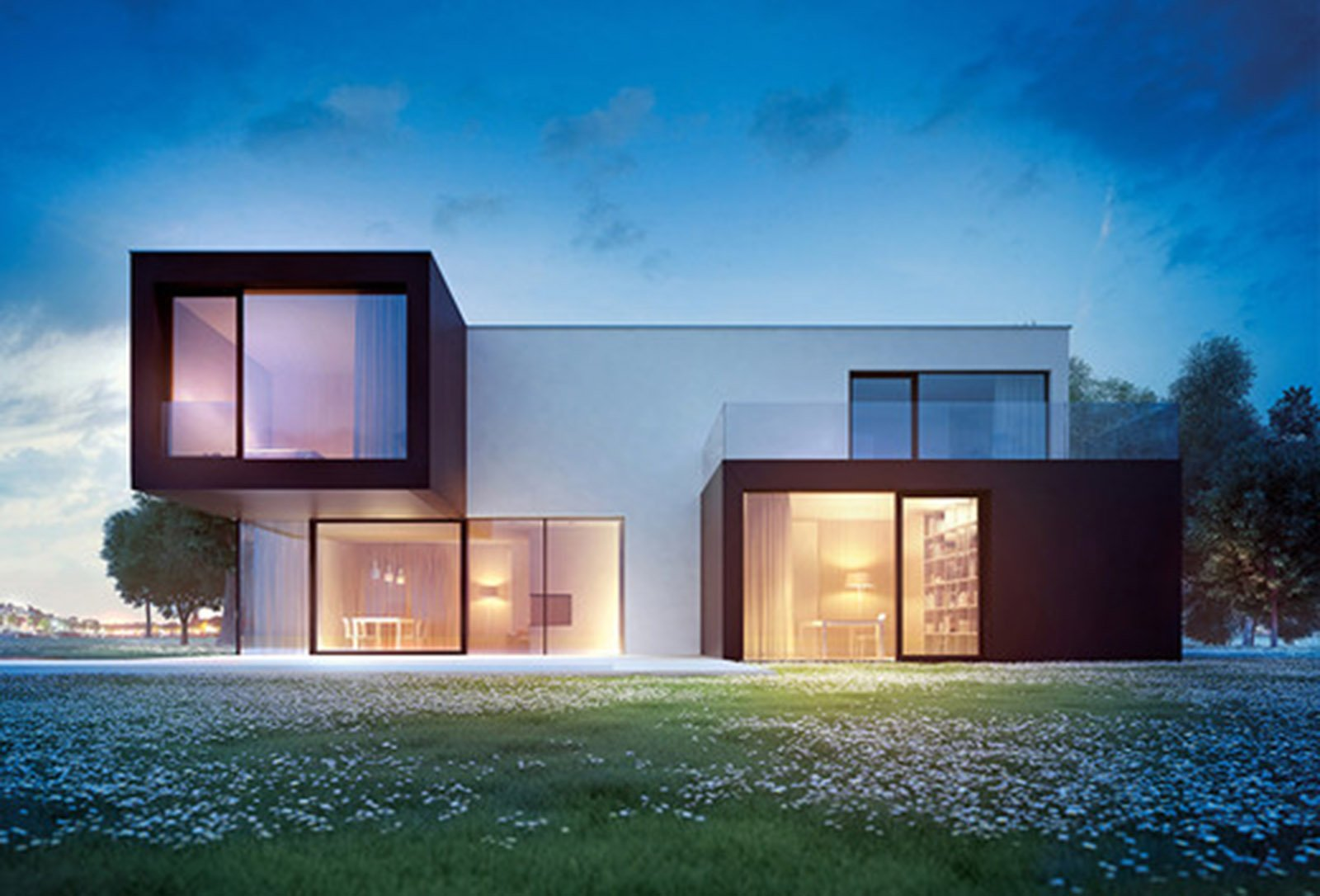 Bioarchitettura e case ecologiche prefabbricate in legno for Casa moderna con tetto in legno