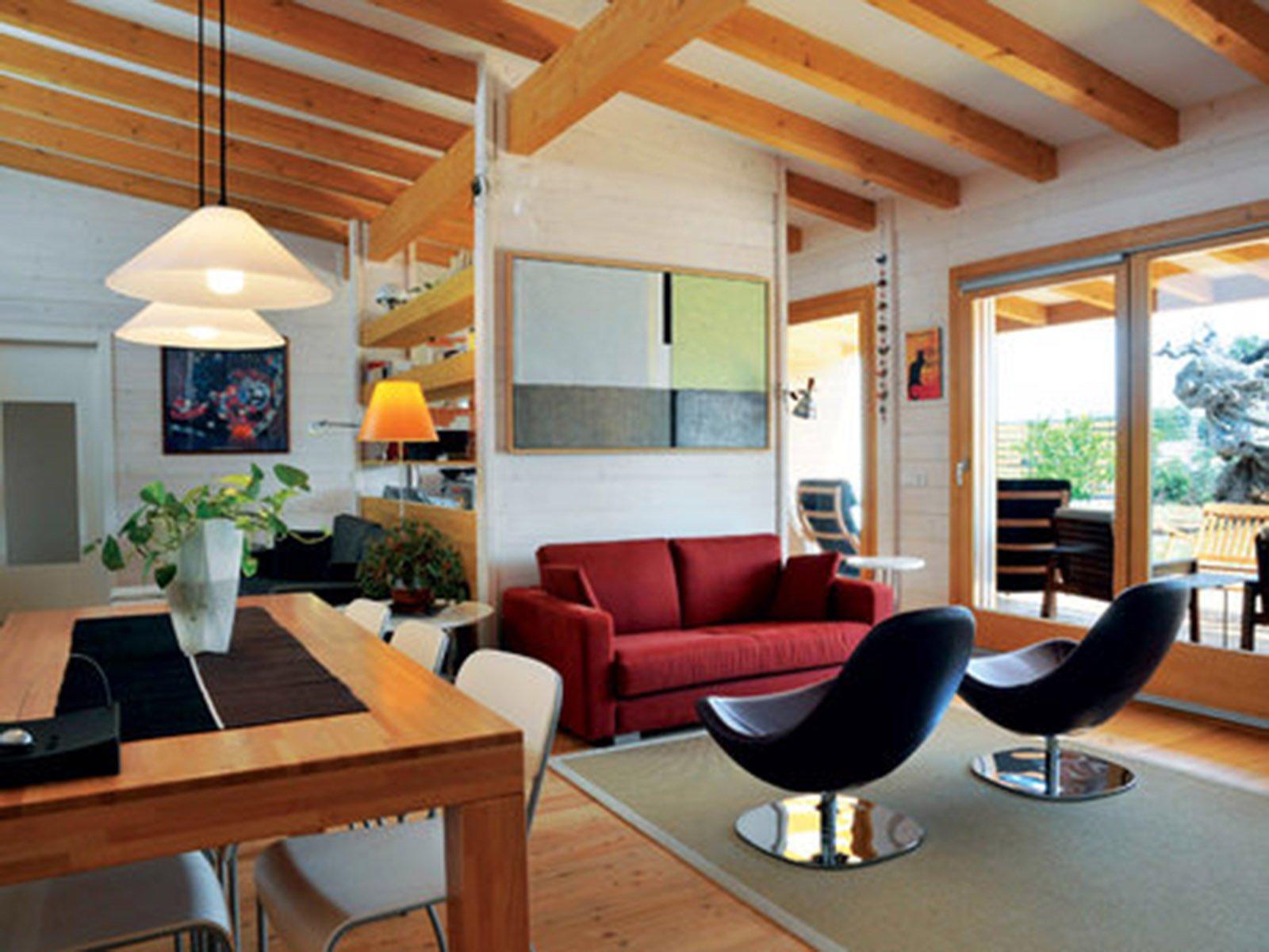 Bioarchitettura e case ecologiche prefabbricate in legno for Case in legno interni