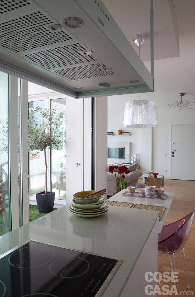 Open space contemporaneo: una casa di 100 mq che sembra più grande ...