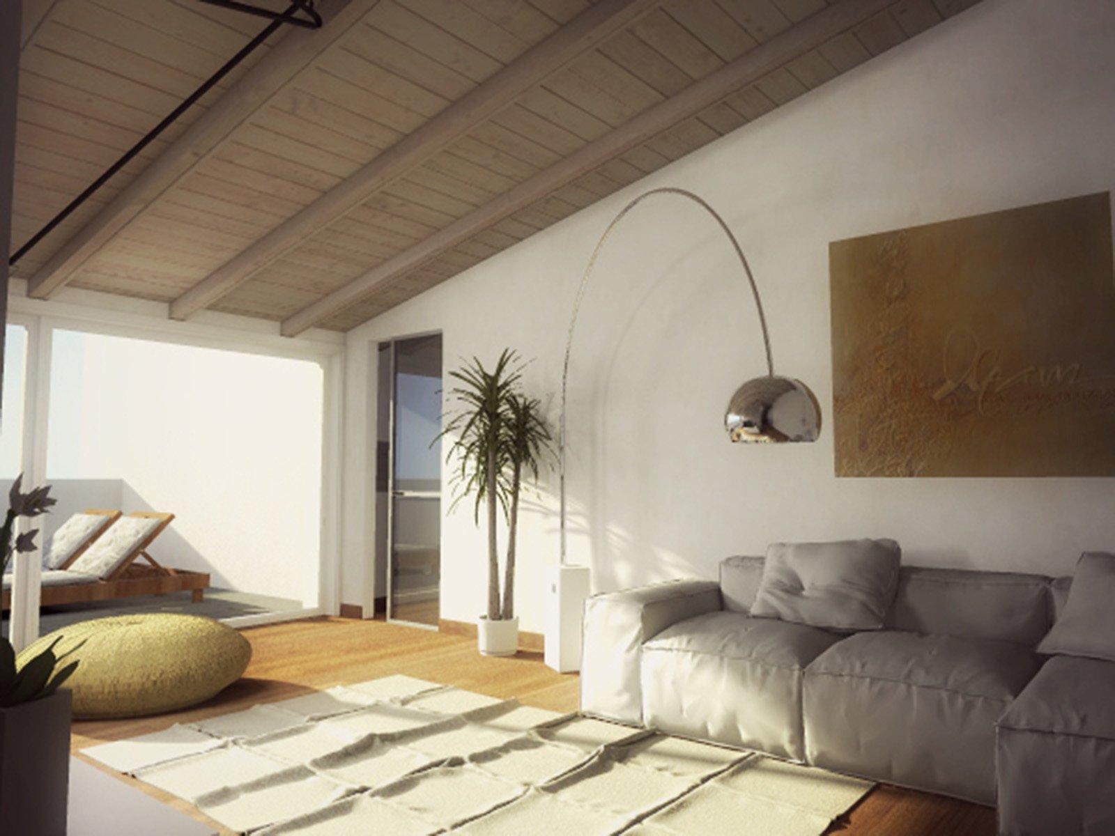 Mansarda una casa sottotetto luminosa e contemporanea for Illuminazione sottotetto legno