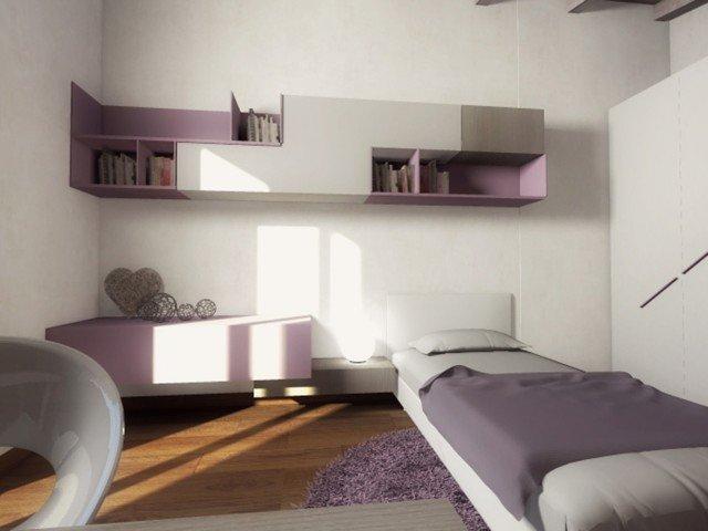 Mansarda una casa sottotetto luminosa e contemporanea cose di casa - Cameretta in mansarda ...