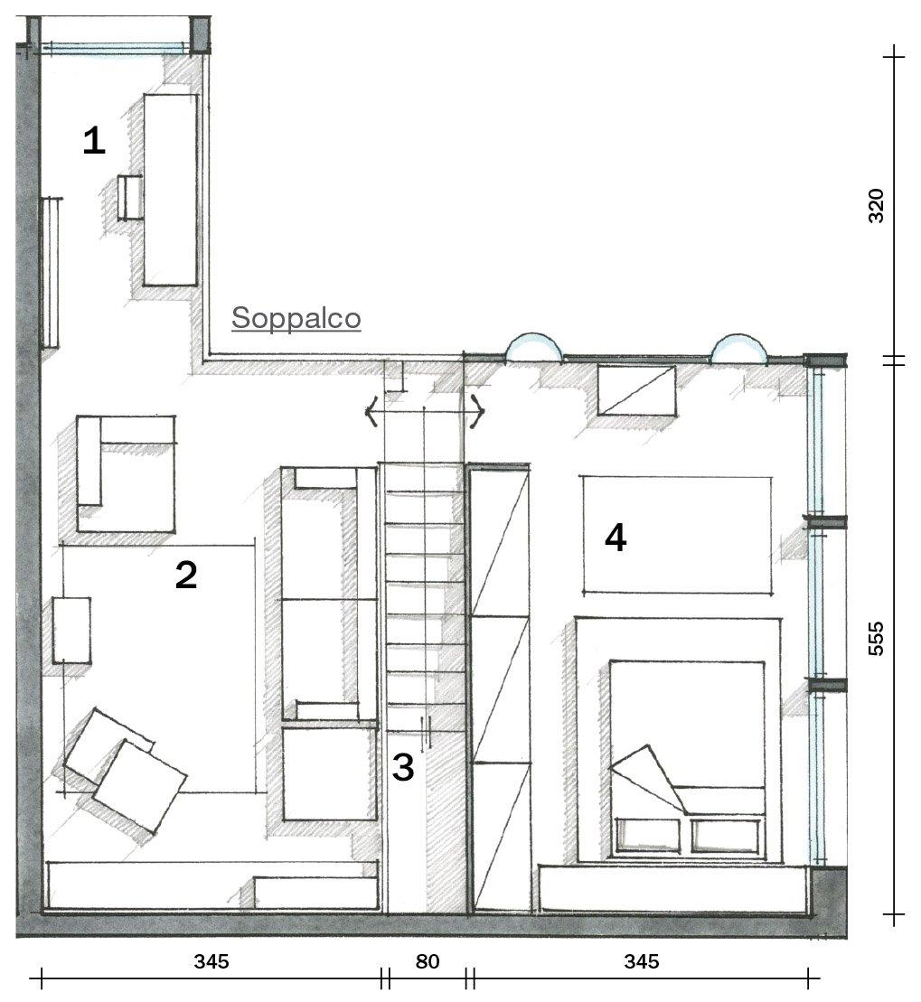 Loft una casa con materiali protagonisti e soppalco per - Disegno pianta casa ...