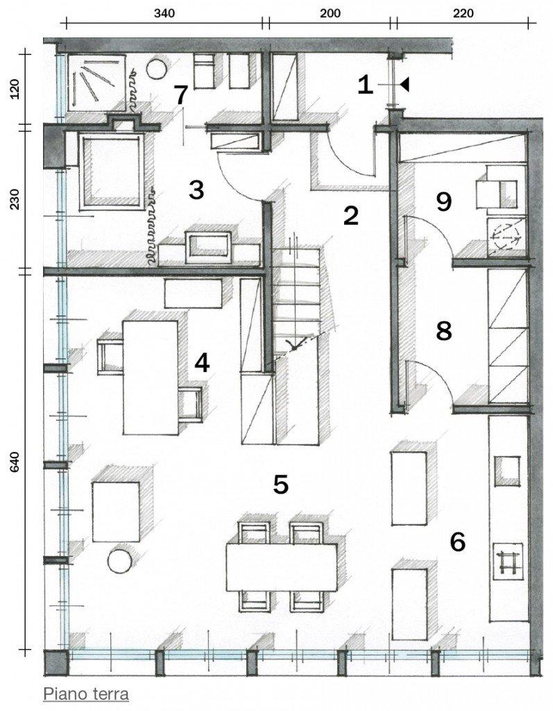 loft una casa con materiali protagonisti e soppalco per