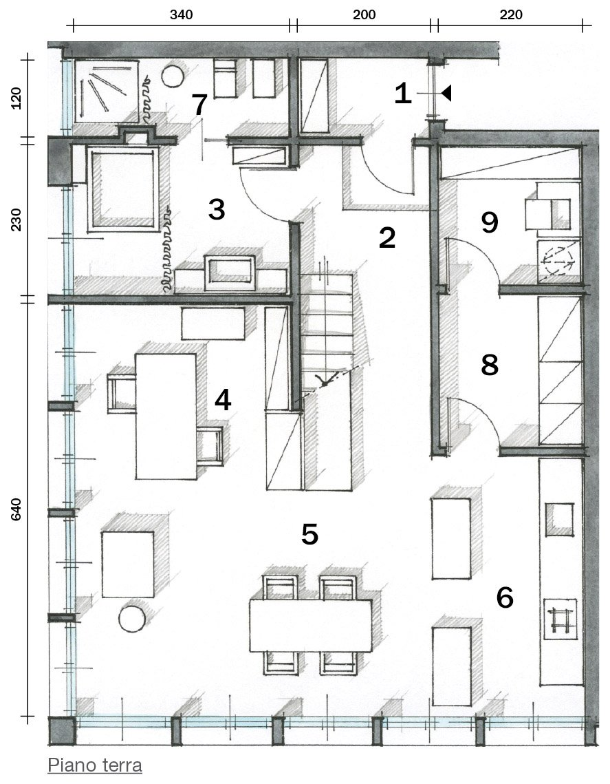 Piante di case casa pianta piano terra cose di casa for Disegnare la pianta del piano di casa