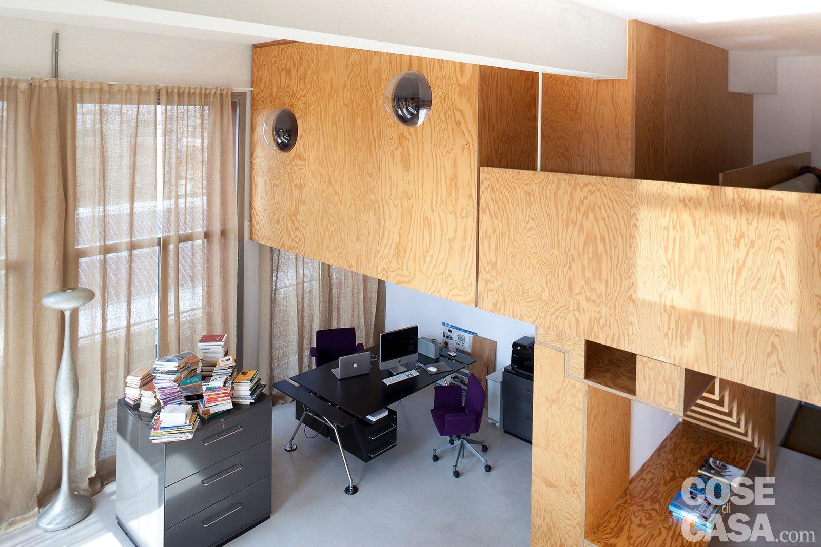Idee Per Soppalco In Legno loft: una casa con materiali protagonisti e soppalco per