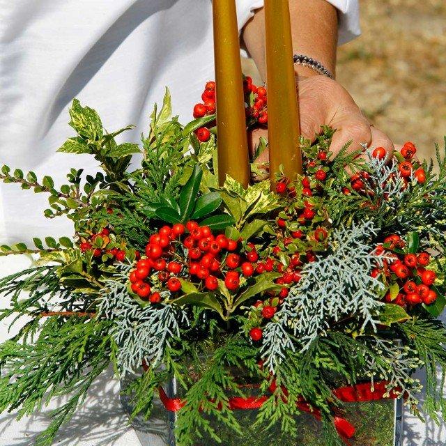 Preparare il centrotavola di natale cose di casa - Centrotavola natalizi pinterest ...