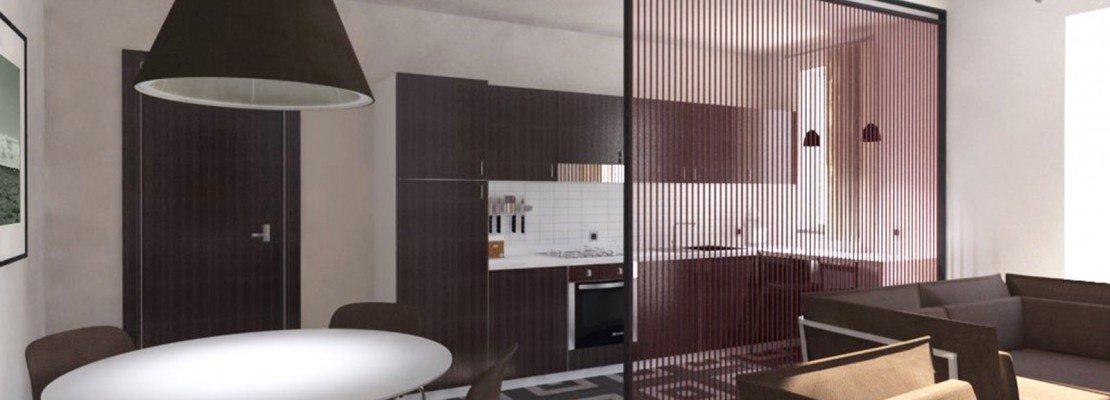 Cucina piccola e soggiorno con ingresso: unirli in un unico open space ...